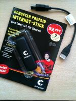 congstar Internet-Stick, Mappe und USB-Kabel