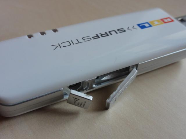 Huawei E160 microSD-Slot und externe Antenne