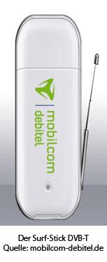 mobilcom-debitel Surf-Stick DVB-T - Quelle: mobilcom-debitel.de